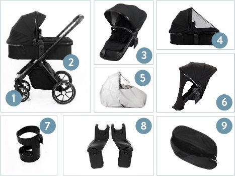 Beqooni Kinderwagen All In